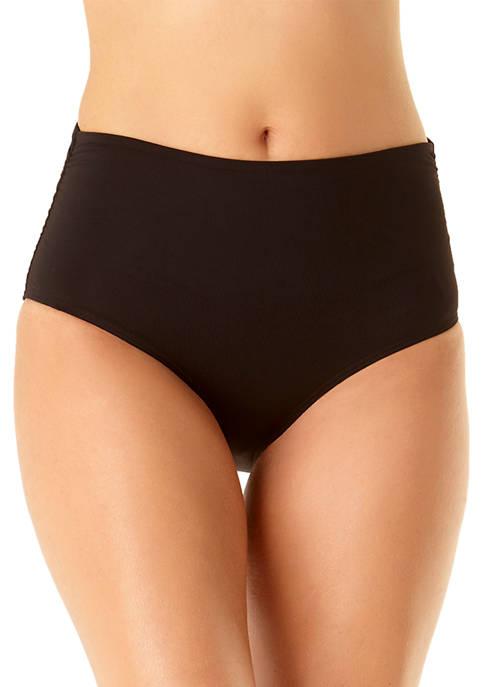 Anne Cole Signature® High Waist Shirred Swim Bottoms