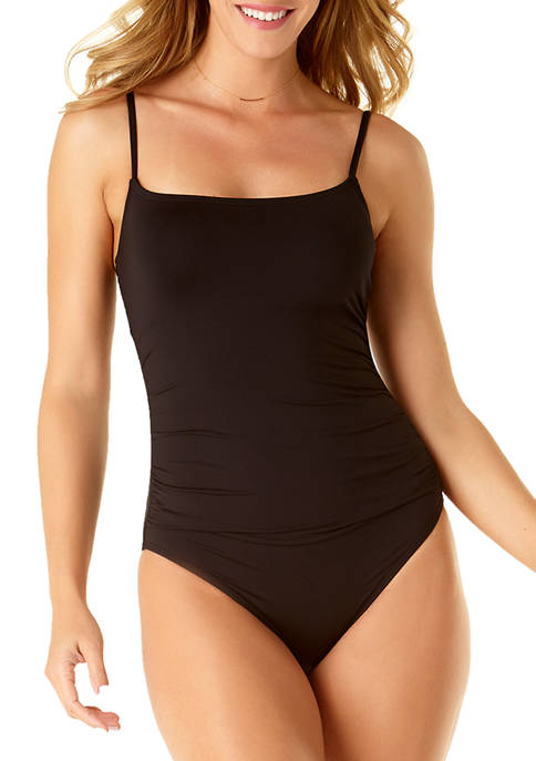 Anne Cole Signature® Shirred Lingerie Maillot One-Piece Swimsuit