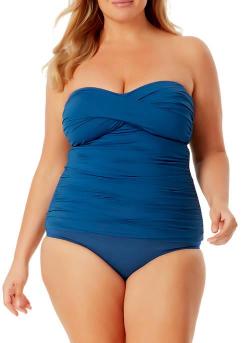Anne Cole Signature® Plus Size Twist Front Shirred