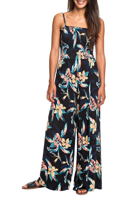 Roxy Womens Straight to Romantic Jumpsuit
