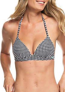 Roxy Beach Classic Molded Bikini Swim Top
