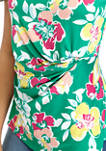 Womens Sleeveless Floral Knot Top