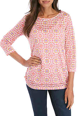 afe8f6c8abcb Kim Rogers® Printed Textured Tunic ...