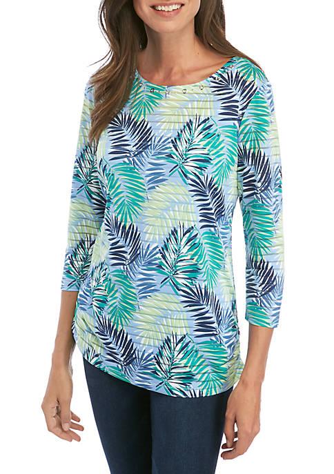 Kim Rogers® Printed Textured Tunic