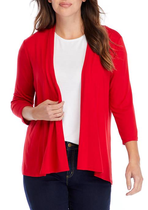 Kim Rogers® Womens Knit Cardigan