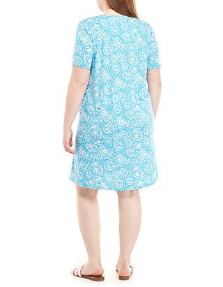 526634ac881 Kim Rogers®. Kim Rogers® Plus Size Shift Dress with Horseshoe Neck
