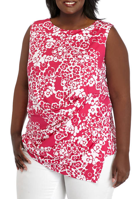 Plus Size Side Knot Sleeveless Top