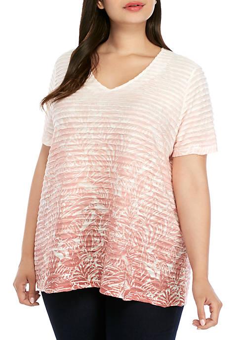 Kim Rogers® Plus Size Short Sleeve Sublimation T