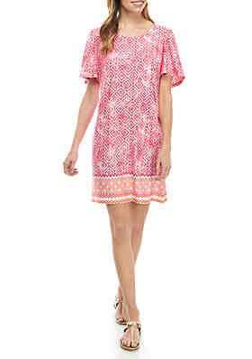 58a46cbde471 Kim Rogers® Petite Flutter Sleeve Dress ...