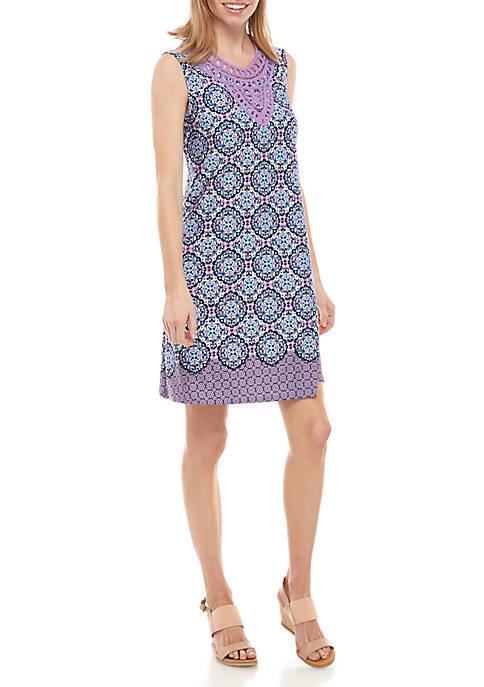 Kim Rogers® Petite Sleeveless Crochet Dress