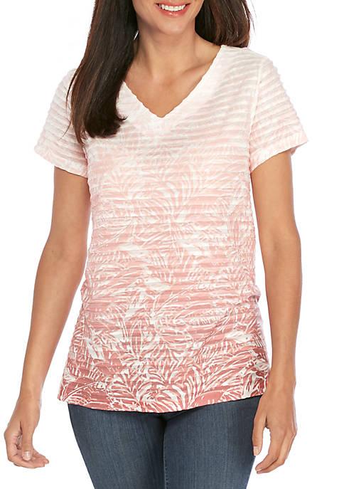 Kim Rogers® Petite Short Sleeve Sublimation T Shirt