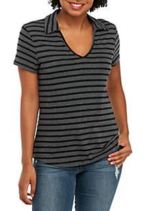 Short Sleeve Stripe Polo Short