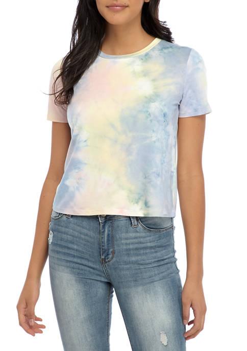 Juniors Tie Dye Skimmer T-Shirt