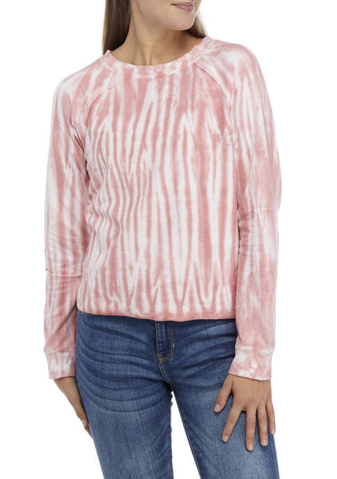 Juniors French Terry Tie Dye Pullover