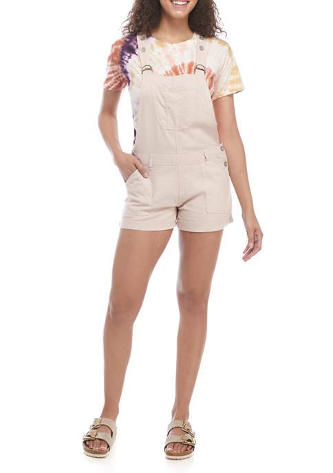 Juniors Linen Shortalls