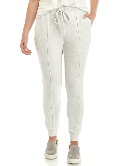 New Directions® Womens Studio Brushed Hacci Printed Jogger
