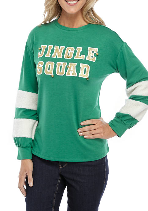 Joyland Womens Long Sleeve Crop Sweatshirt