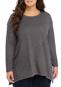New Directions® Plus Size Essential Washed Swing T-Shirt