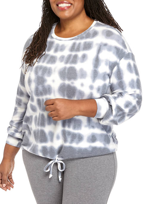 New Directions® Plus Size Studio Hacci Pullover