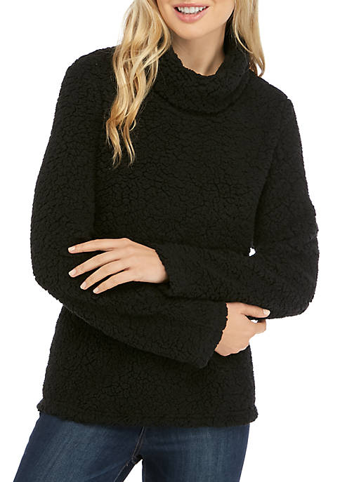 New Directions® Womens Studio Cozy Funnel Solid Pullover