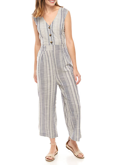New Directions® Striped Woven Jumpsuit