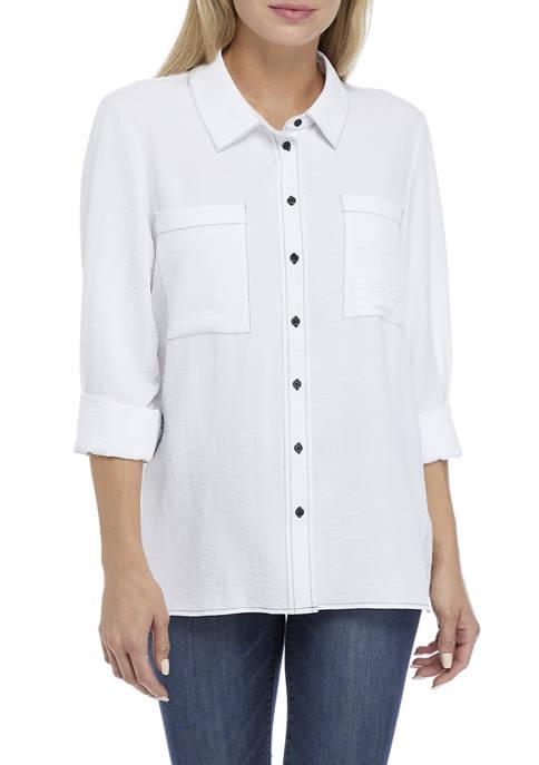Womens Mechanical Stretch Airflow Button Down Shirt