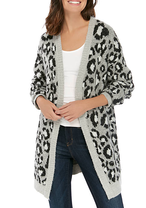 New Directions® Womens Long Sleeve Cardigan