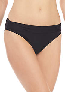 New Directions® Swim Hipster with Ruched Details
