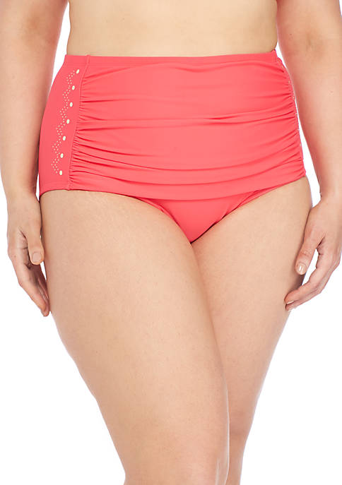 New Directions® Plus Size Swim Desert Sands Nailhead