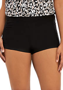 New Directions® Plus Size Cinched Swim Shorts