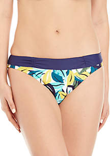 New Directions® Island Leaf Ruched Hipster Swim Bottoms