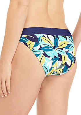 29799728b2 ... New Directions® Island Leaf Ruched Hipster Swim Bottoms