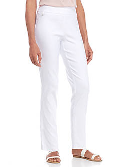 Kim Rogers® Luxe Super Stretch Pullover Pant with Hardware