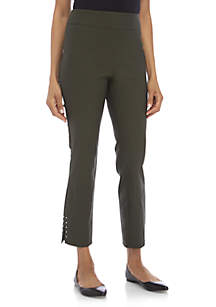 Luxe Ankle Pants with Silver Rivets