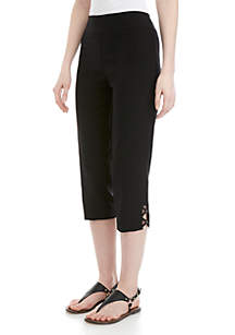 Kim Rogers® Luxe Pull On Pants with Criss Cross Rivets