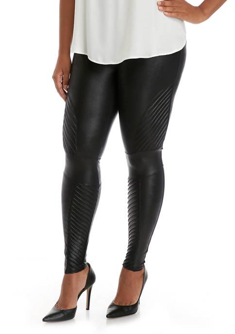 Plus Size Moto Leggings