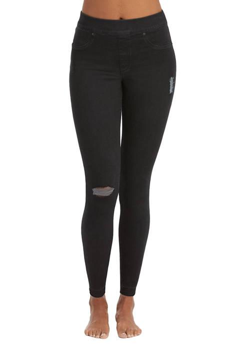 Womens Distressed Denim Skinny Pants