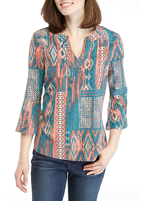 Kim Rogers® Bell Sleeve Woven Top