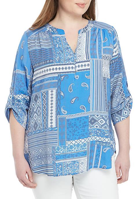 Kim Rogers® Plus Size Woven Top