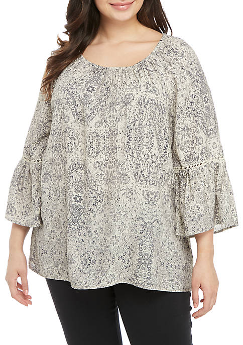 Kim Rogers® Plus Size Liano Top