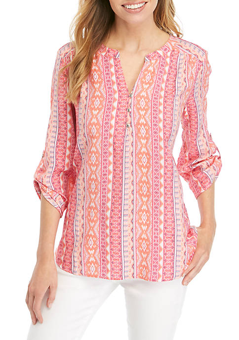 Kim Rogers® Petite Pink Party 3/4 Sleeve Liano
