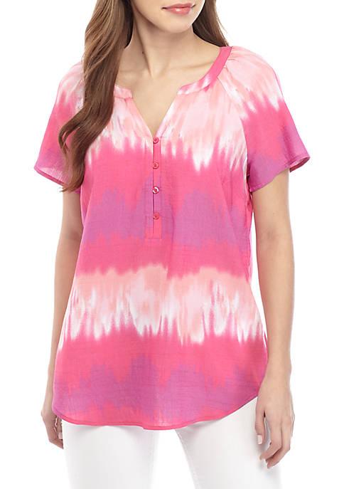 Short Sleeve Liano Tie Dye Print Top