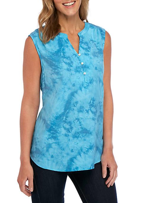 Kim Rogers® Tie Dye Sleeveless Liano Top
