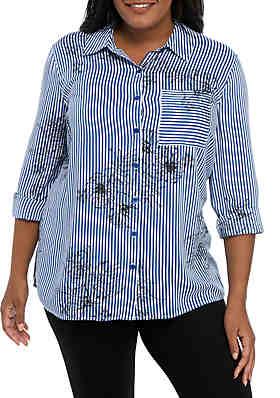 Plus Size Button Down Shirts | belk