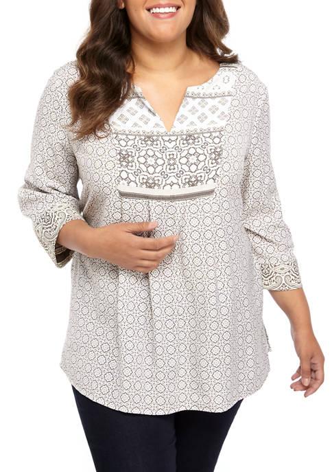 Kim Rogers® Plus Size Liano Blouse