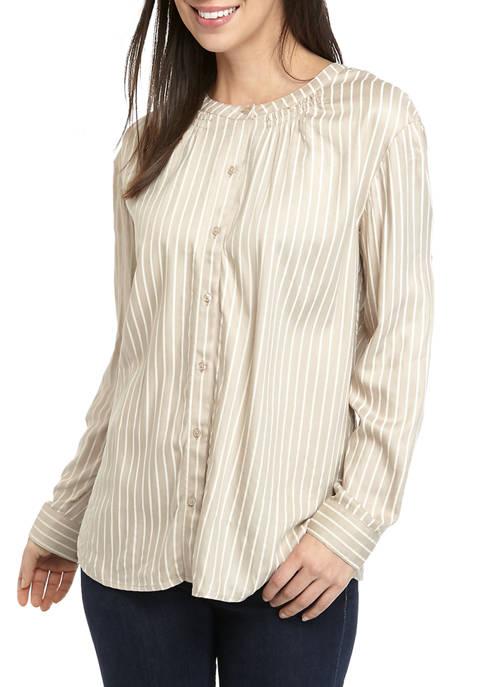 Kim Rogers® Womens Long Sleeve Top