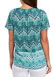 Short Sleeve Sheered Burnout T Shirt