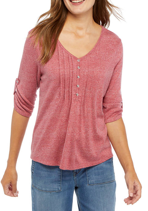 Womens Roll Tab Honeycomb LUREX® Shirt