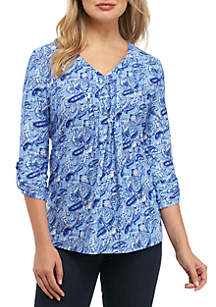 Roll Sleeve Yummy Popover Top