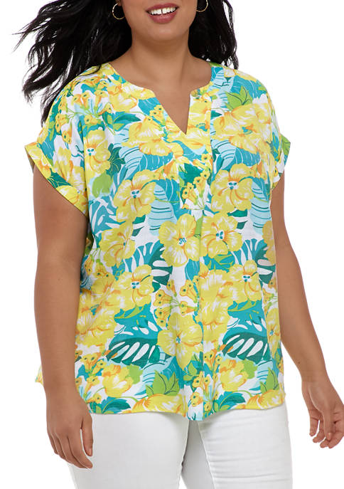 Kim Rogers® Plus Size Dolman Sleeve Liano Blouse